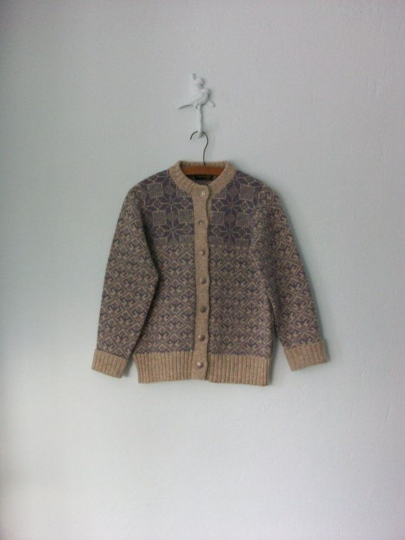 Nordic Cardigan Sweater ... Wool Snowflake by sparvintheieletree