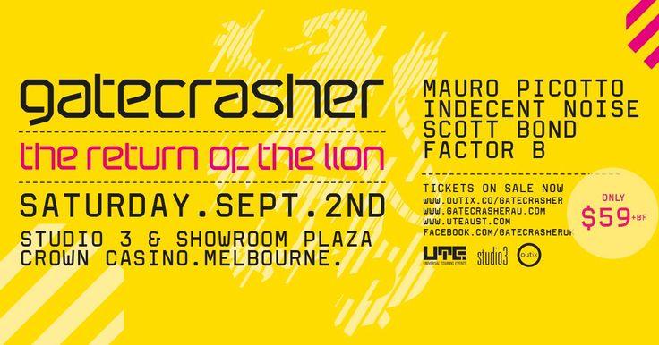 Annual Membership Incl Single Pass to Gatecrasher Melbourne [Sat 2 Sep 17, Studio 3 & Plaza-Crown]