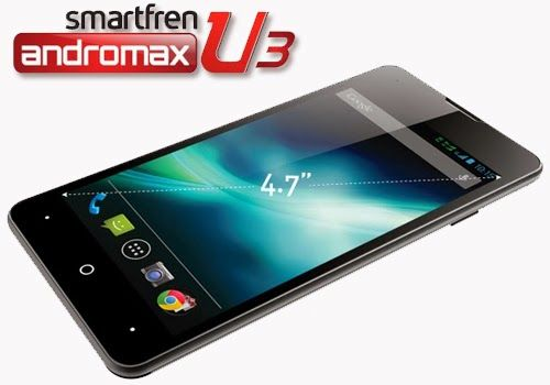 Spesifikasi Smartfren Andromax U3 Pabrikan: Innos Layar: 4.7 inch IPS (540x960p) Dukungan SIM: Micro RUIM dan Micro SIM Sistem Operasi: Android 4.1 Jelly Bean Chipset: Qualcom Snapdragon MSM8625Q Processor: 1,2 GHz Quad Core GPU: Andreno 203 RAM: 1GB ROM: 4GB Storage: Slot microSD hingga 32 GB Kamera Utama: 8 MP Flash Kamera Sekunder: 2MP Baterai: 1800 mAH
