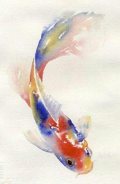 koi fish tattoo acuarela - Buscar con Google