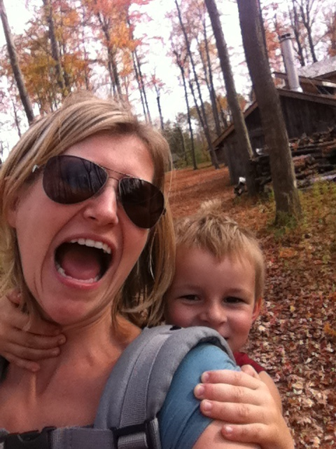 Hiking at Mountsberg in the fall is one of my favorite things to do - even with a preschooler strapped to my back. It is just good for the soul!