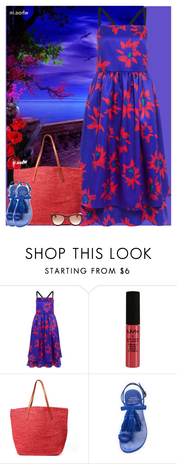 """""""Bez naslova #3011"""" by gita016 ❤ liked on Polyvore featuring Edit, NYX, Mar y Sol, Stuart Weitzman and Lanvin"""
