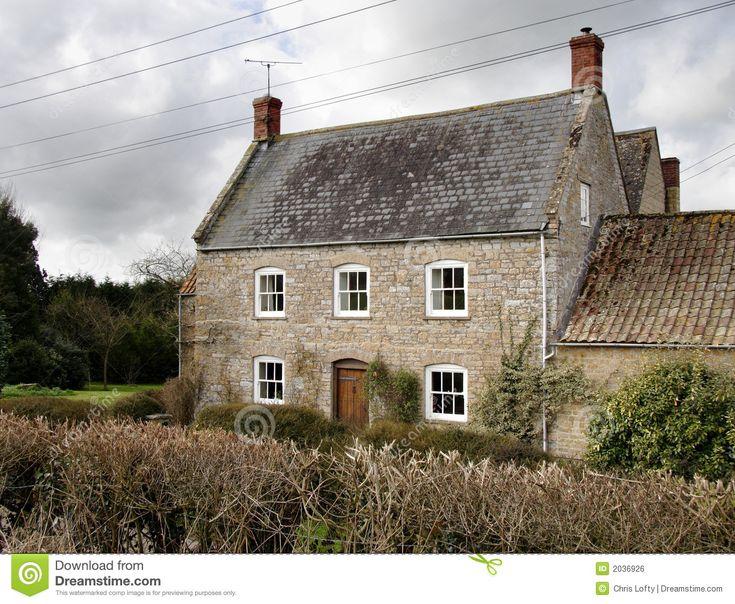 Winter Sunshine On A Natural Stone Rural English Farmhouse