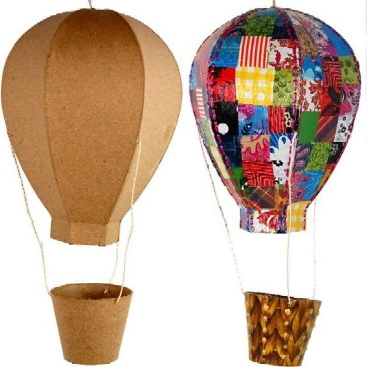 Paper Mache Craft Ideas For Kids Part - 38: Papier Mache Hot Air Balloon. Papier Mache Craft Blank Shapes To Paint Or  Decoupage.