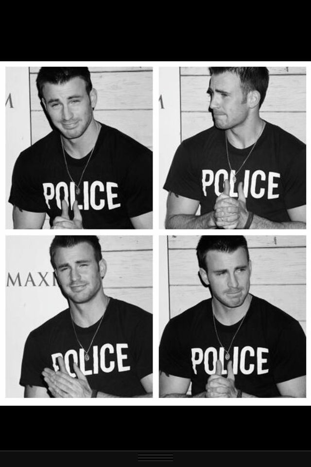 Chris Evans - Captain America>>>> i did a bad thing, i need Chris to arrest me for it.