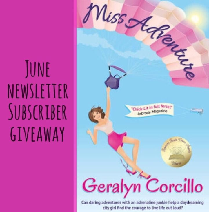 Subscriber giveaway –3 Amazon Kindle copies of Miss Adventure I just love Geralyn Corcillo's books and have read them all – Queen of the Universe, 4 in the Afternoon and Miss Adventure… https://cassandrapiat.wordpress.com/2016/06/21/my-june-newsletter-book-choice-miss-adventure/
