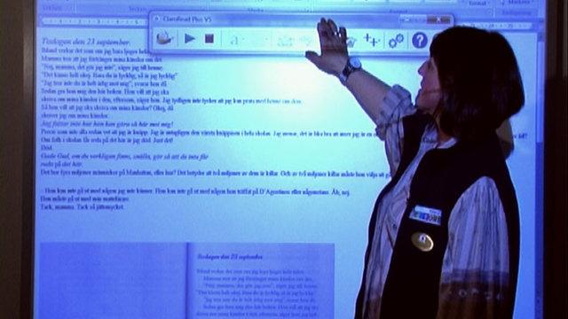 Skoldatateket - vad lärare ska tänka på by Margareta Hellstrom. Ulrika Jonson, specialpedagog, på Skoldatateket i Södertälje. (Utan presentation)