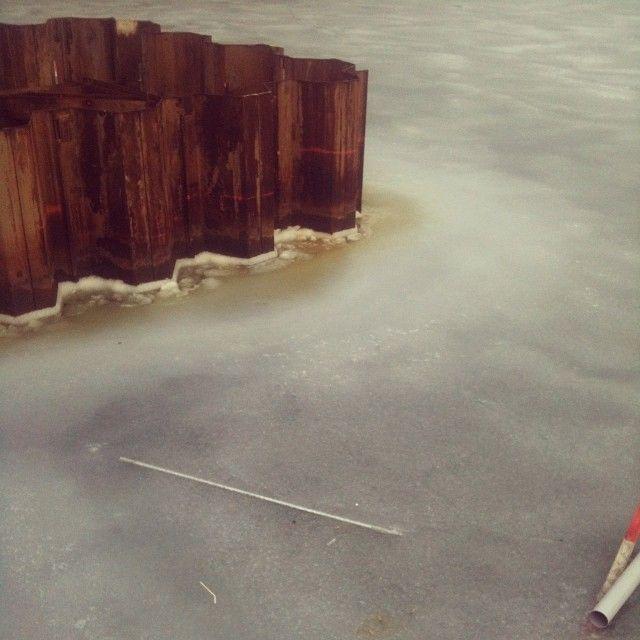 Copenhagen harbour frozen