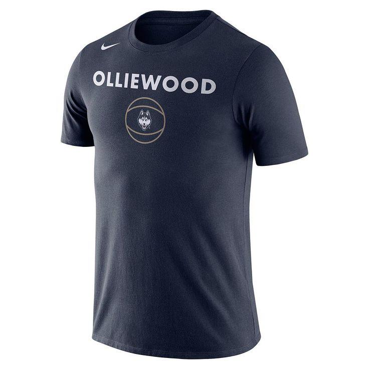 Men's Nike UConn Huskies Basketball Local Tee, Size: Medium, Blue (Navy)