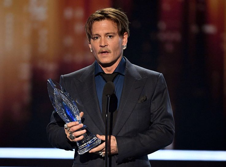 Pirates of the Caribbean star receiving the award at the Microsoft Theater in Los Angeles