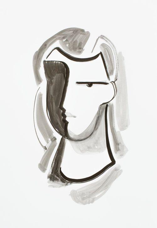 Halina - ink on paper