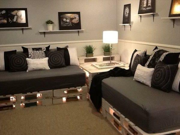 Sofa aus Paletten – eine perfekte Vollendung des Interieurs – DESMONDO