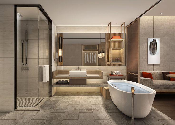 Shenzhen Marriott Hotel Golden Bay Updated 2018 Reviews Price Comparison And 699 Photos China Public Restroom Design Hotel Interior Design Washroom Design
