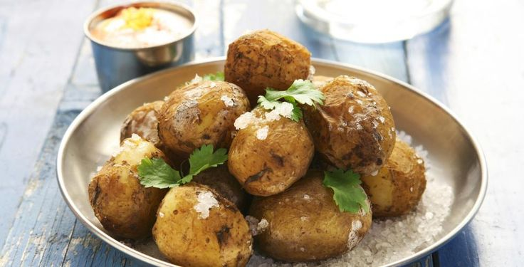 Dipp til saltbakte poteter