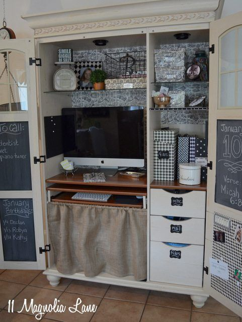 operation organized computer armoire