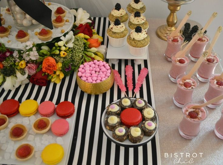 STRIPES AND FLORAL DESSERT TABLE #stripes #floral #party #anniversary #ohitsperfect #desserts