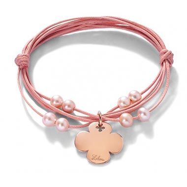 Pink luck 43£ #pearl #pink #christmas #clover #bracelet #present #lilou