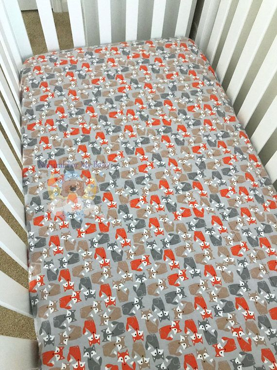 Ready To Ship Flannel Foxes Fitted Crib Sheet Foxes Crib Sheet | Baby/ Toddler Bedding | Pinterest | Crib Sheets, Crib And Toddler Bed