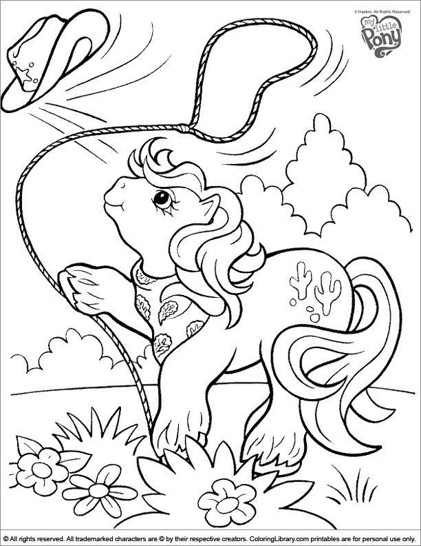 Vintage My Little Pony Coloring Pages : Best crafty s my little pony coloring images on