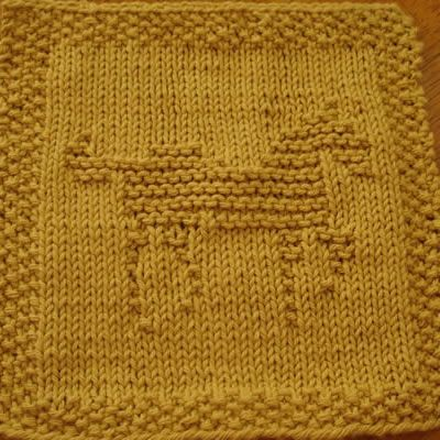 Horse Knit Dishcloth Pattern This knit dishcloth pattern shows a picture of a...