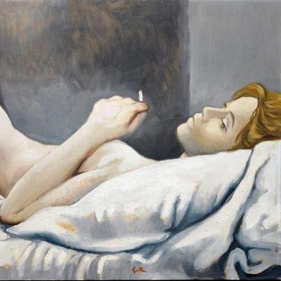 Renato Guttuso (1911- 1987) Nudo disteso (1963) Collezione privata.