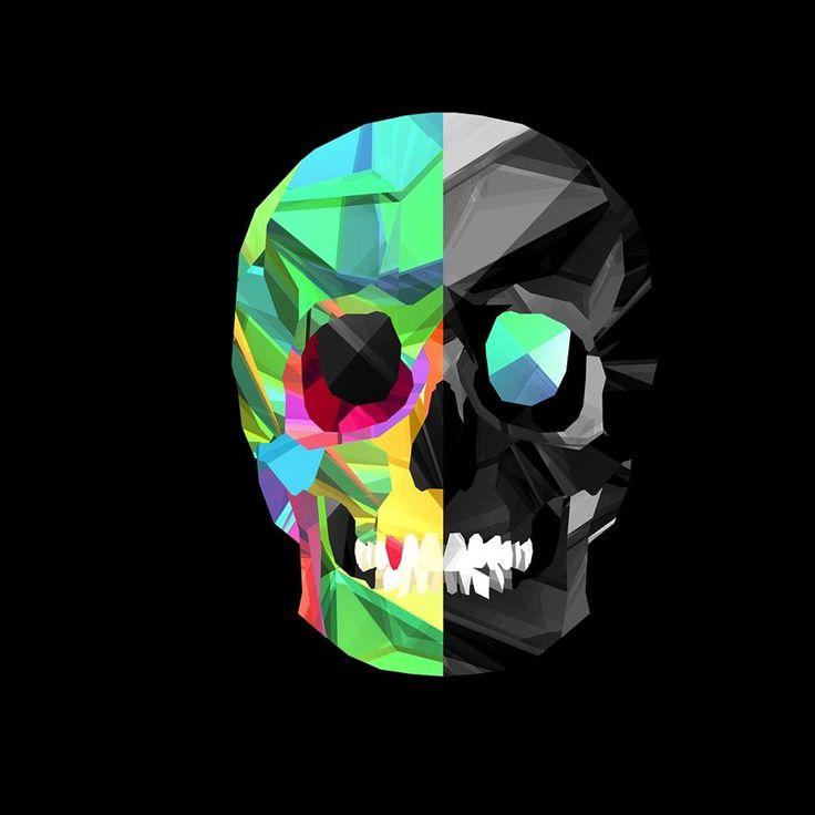 skull wallpaper 133 colorful - photo #2