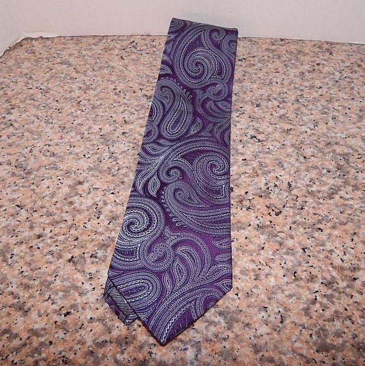 XMI platinum mens tie paisley with purple light shades blue 59 in #XMI #Tie
