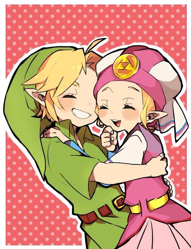 princesa Zelda y Link estan pequeños q contentos para abrazan aww  The Legend of Zelda: Ocarina of Time artwork by…