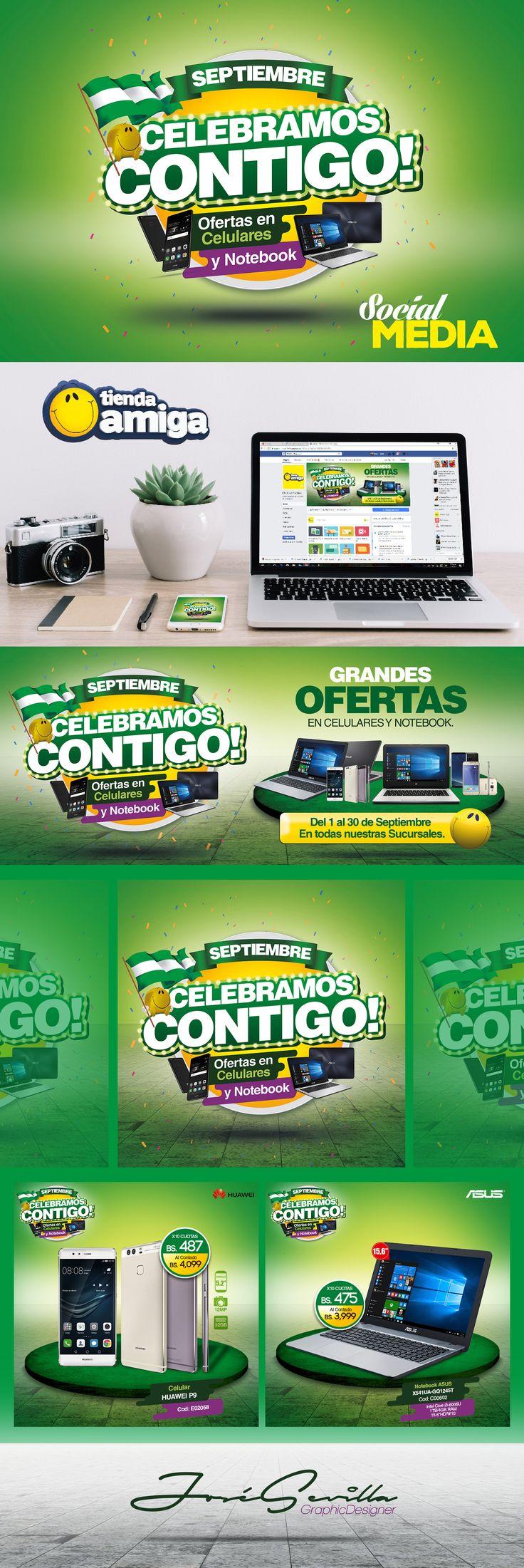 SEPTIEMBRE CELEBRAMOS CONTIGO! ofertas en Celulares y  Notebook. TIENDA AMIGA