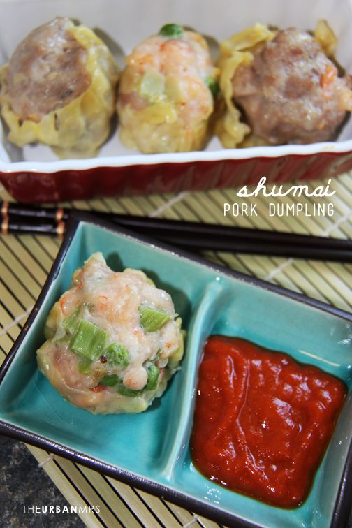 Shumai (Pork Dumplings) 烧卖 ~ I think I need to make these and have a dim sum dinner!