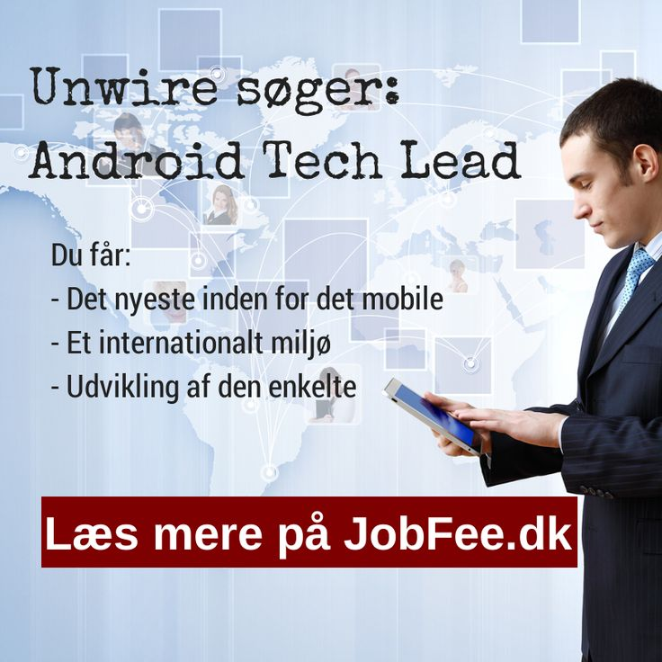 Unwire søger Android Tech Lead http://jobfee.dk/ledige-jobs/2014/01/android-tech-lead/