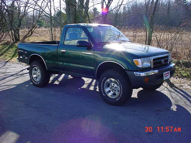 my first car a brand new 1999 green toyota tacoma 4x4. Black Bedroom Furniture Sets. Home Design Ideas
