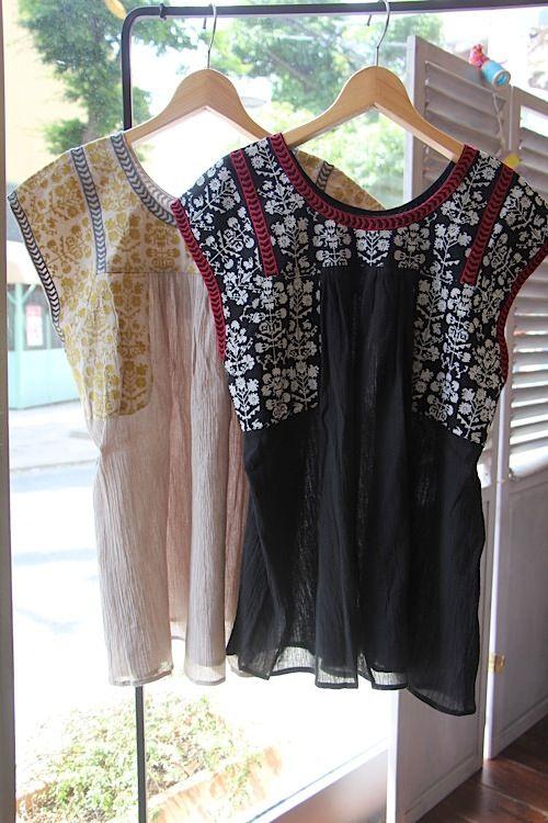 [Midsummer] Beregu embroidery blouse - 100% picnic.