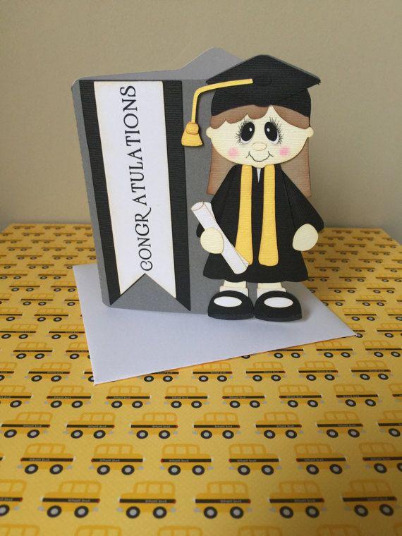 Graduation Card PreMade Die Cut Paper by LetsScrapbookbyAngie