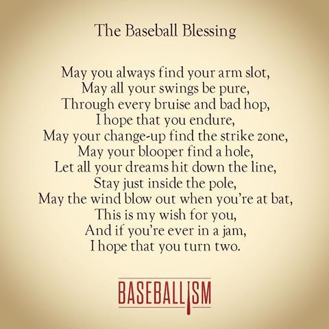 The Baseball Blessing #Baseballism