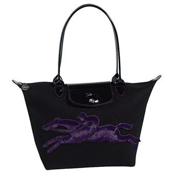 love it!!!! Longchamp Victoire Bag Black Purple