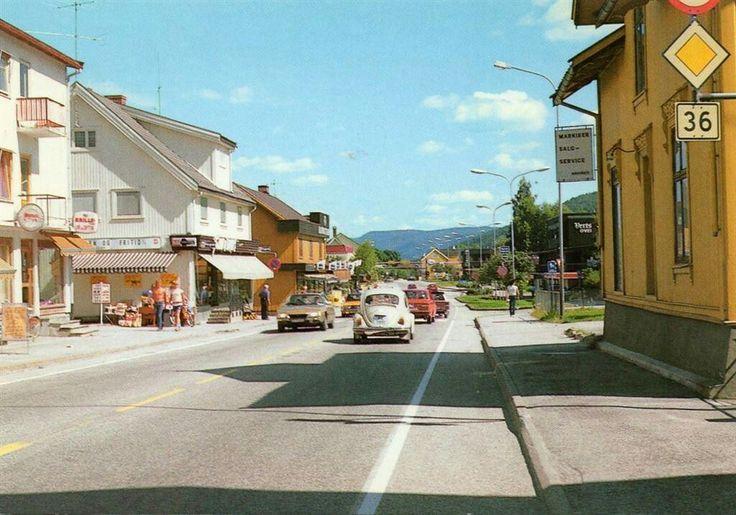 Telemark fylke Bø Kommune sentrum 1970-tallet