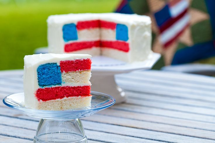 Fourth of July CakeCake Recipe, Fourth Of July, Red White Blue, Blue Cake, Flags Cake, 4Th Of July, Wedding Cake, Independence Day, Parties Food
