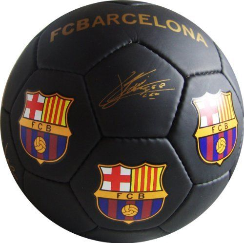 FC BARCELONA BLACK MEDIUM SOCCER BALL (SIZE 2) by F.C. Barcelona. $12.90. A terrific gift idea.. Official F.C. Barcelona Medium Soccer Ball (Size 2). Perfect for display or a play with the littlest fans.. Officially Licensed. Makes a great gift idea for all F.C. Barcelona fans. The soccer-ball ships deflated, and needs inflation upon arrival.