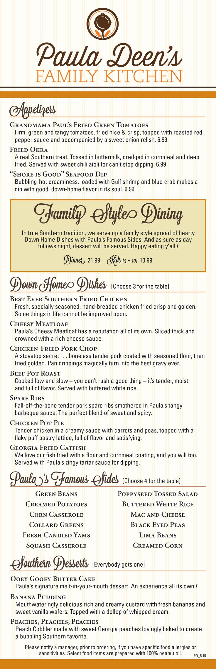 38 best Dinner at Paula Deen\'s Family Kitchen images on Pinterest ...