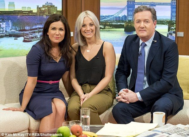Dunblane survivor Aimie Adam (centre) with Good Morning Britain presenters Susanna Reid and Piers Morgan