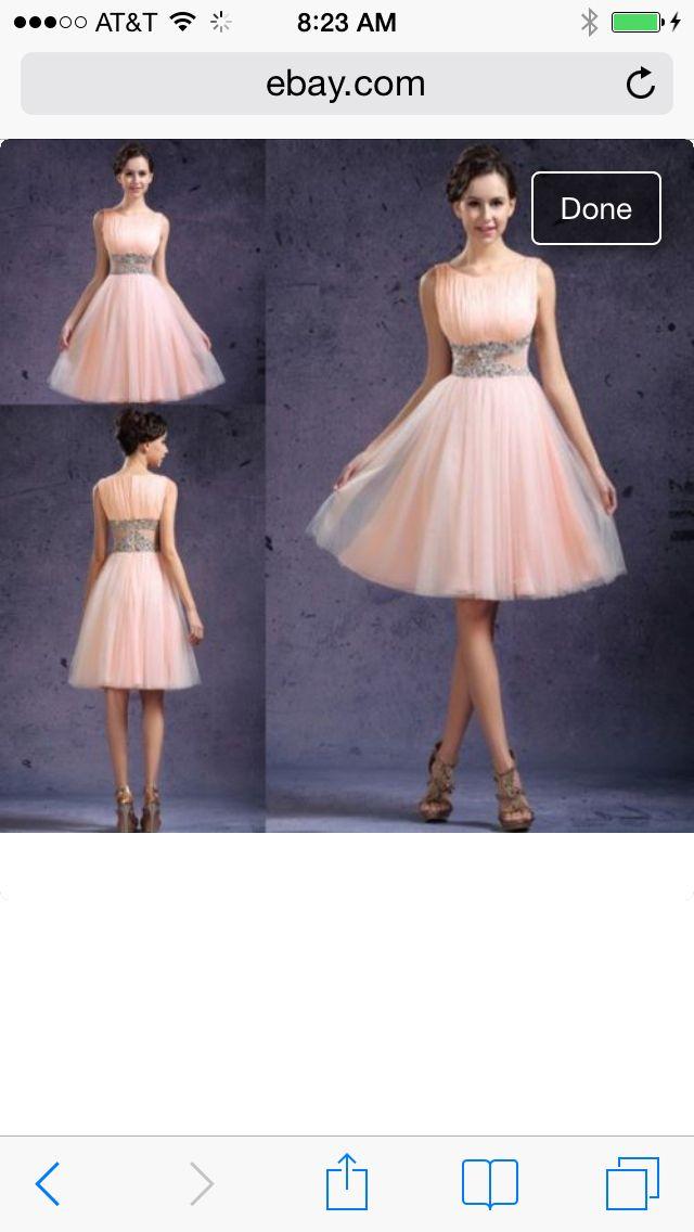 36 best Peach dress images on Pinterest | Party wear dresses, Grad ...