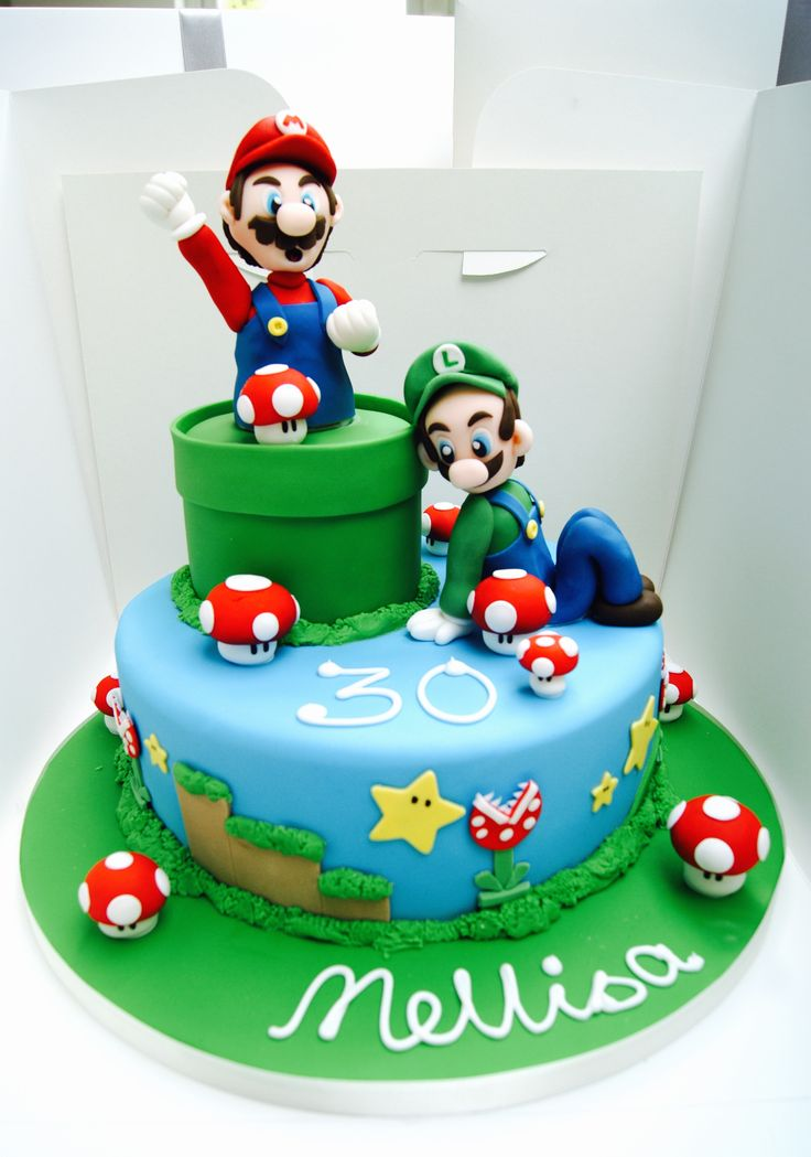 Super Mario Cake by Hall of Cakes