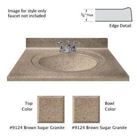 Us Marble Recessed Oval Standard Brown Sugar Cultured Marble Integral Single Sink Bathroom