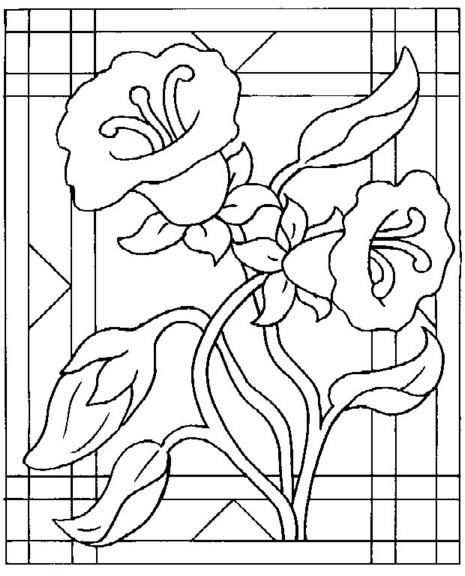Desenho de flores para imprimir e colorir                                                                                                                                                     Mais