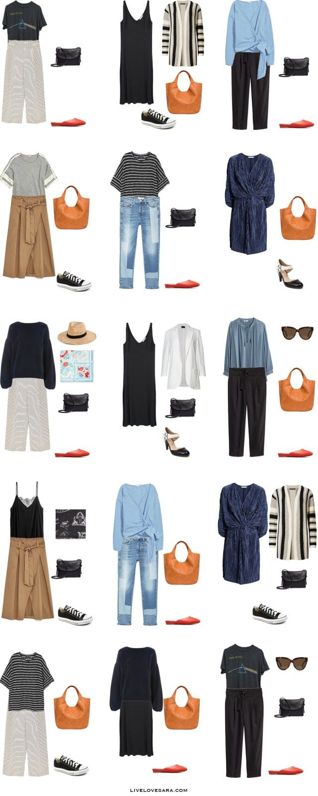 What to Wear in Hungary and Bulgaria Outfit Options 1-15 Packing Light List #packinglist #packinglight #travellight #travel #livelovesara