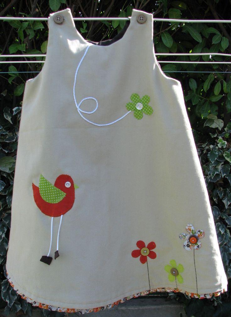 """robe hiver """"piaf"""" modèle 6 mois (sur commande): Mode bébé par lilipirouette"""