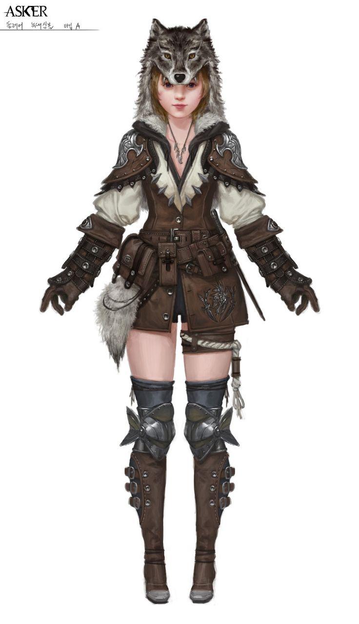 ArtStation - Flare wolf armor, Wu Kim