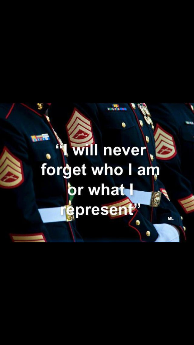 Even though I have not earned the title yet, I carry myself in a way that would make the corps proud, I will not act like a fool and say I'm a future marine. No way no how.