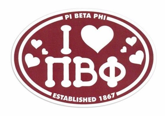 Pi Beta Phi Mom Arrow Decal Sticker
